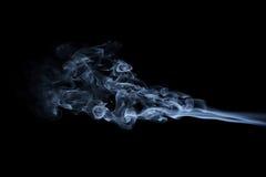 Onde blu astratte del fumo Immagini Stock