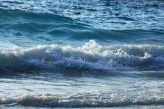 Onde blu del mare di struttura Fotografia Stock