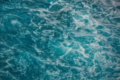 Onde blu dell'oceano Fotografie Stock Libere da Diritti