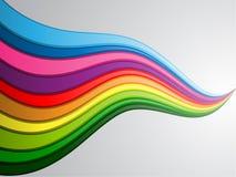Onde colorée Images libres de droits