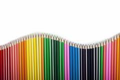 Onde colorée d'abrégé sur crayons Photographie stock
