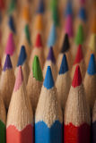Onde colorée de crayons Photographie stock