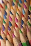 Onde colorée de crayons Images stock