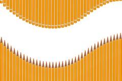 Onde colorée de crayons Image libre de droits