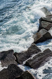 Onde costiere a Siracusa Fotografie Stock