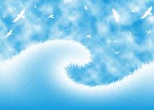 Onde d'océan abstraite Image stock