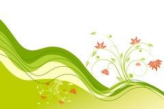 Onde de fleur Photos libres de droits