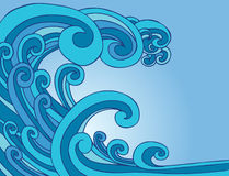 onde de marée de tsunami illustration de vecteur