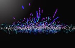 Onde de musique de vecteur Images libres de droits