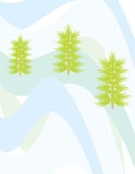 onde de neige de pin de Noël Image stock