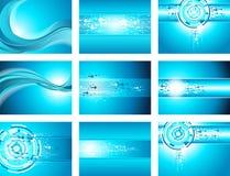 Onde de site et collection bleues de fond de flèche Image stock