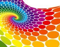 Onde de spirale d'arc-en-ciel Image libre de droits