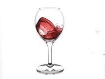 Onde de vin rouge en glace Photographie stock libre de droits