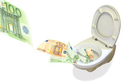 Onde deixar nosso dinheiro Fotografia de Stock Royalty Free