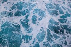 Onde del mare del fondo Fotografie Stock Libere da Diritti