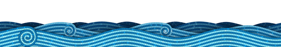 Onde del mosaico illustrazione vettoriale