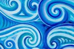 Onde del ricciolo blu fotografie stock libere da diritti