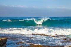 Onde della costa dei naufragi Fotografia Stock Libera da Diritti