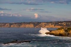 Onde della costa di California Immagini Stock