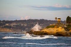 Onde della costa di California Fotografia Stock