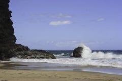 Onde della spiaggia di Kauai Fotografie Stock