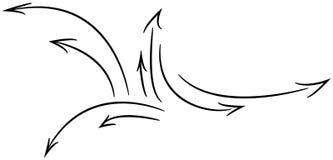 Onde delle frecce illustrazione vettoriale