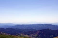 Onde delle montagne Fotografia Stock