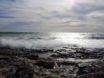 Onde delle nuvole di tempesta di Mar Nero Immagini Stock Libere da Diritti