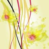Onde di colore giallo Immagine Stock