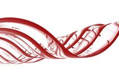 Onde di colore rosso Illustrazione di Stock