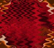 Onde di colore rosso Fotografie Stock
