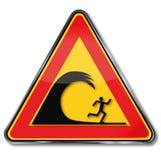 Onde di livello di cautela illustrazione vettoriale