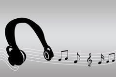 Onde di musica Immagine Stock