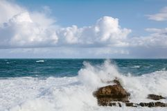 Onde di oceano a Biarritz Immagini Stock Libere da Diritti