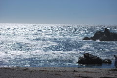 Onde di oceano nell'oceano Pacifico Immagini Stock