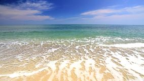 Ocean waves on the beach Stock Footage