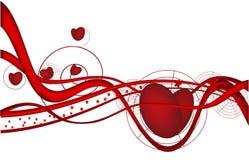 Onde du jour de Valentine Photographie stock