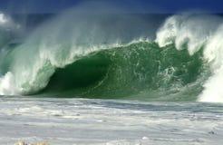 onde du nord de rivage d'Hawaï Photo stock