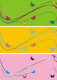 Onde e farfalle royalty illustrazione gratis