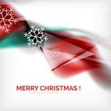 Onde e fiocchi di neve vaghi Natale rosso Fotografie Stock