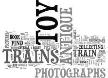 Onde encontrar fotografias de Toy Trains Word Cloud antigo Foto de Stock Royalty Free