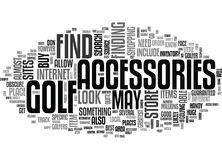 Onde encontrar a nuvem de Accessoriesword do golfe Fotografia de Stock
