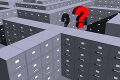 Onde está meu arquivo? (3D) Imagens de Stock Royalty Free