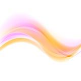 Onde futuristiche rosa ed arancio astratte Fotografie Stock