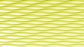 Onde gialle astratte della plastica Fondo di moto di Loopable stock footage
