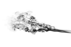 Onde grige astratte del fumo isolate Immagine Stock