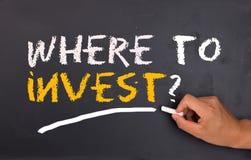 Onde investir Imagens de Stock