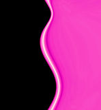 Onde liscie di colore rosa caldo Fotografia Stock Libera da Diritti