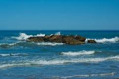 Onde nel mare Fotografia Stock