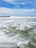 Onde nel mare Fotografie Stock